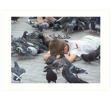 Pigeons... Art Print