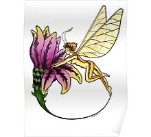 fairy opening flower colored Poster