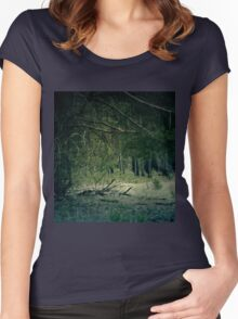 Retro Pine Forest 13 Women's Fitted Scoop T-Shirt