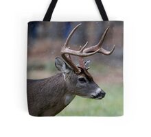 Snow Falling On A White-Tailed Deer Tote Bag