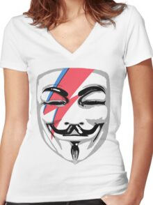 Guy Bowie Women's Fitted V-Neck T-Shirt