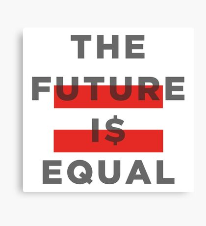 Official THE FUTURE I$ EQUAL Apparel by Hope Solo Canvas Print