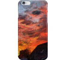 Fiery orange dramatic sunset sky iPhone Case/Skin