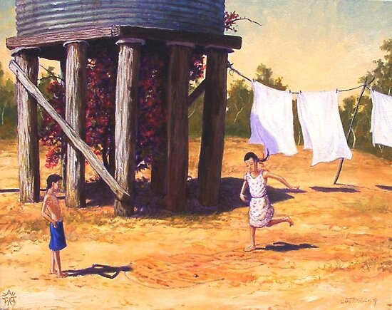 Water Tank Hopscotch by Cary McAulay
