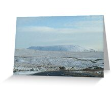 snowy scotland in may Greeting Card