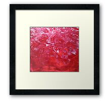 Emerge contemporary abstract carnation red floral painting Framed Print