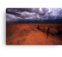 outback gate - NSW Canvas Print
