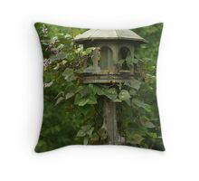 Birdhouse Vine Throw Pillow