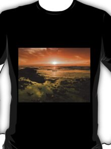 Beautiful seascape in dramatic sunset T-Shirt