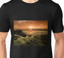 Beautiful seascape in dramatic sunset Unisex T-Shirt