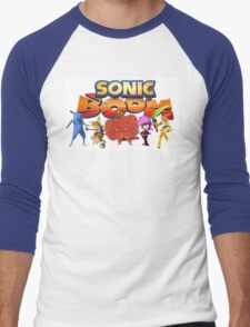 Sonic Boom Parody T-Shirt Men's Baseball ¾ T-Shirt