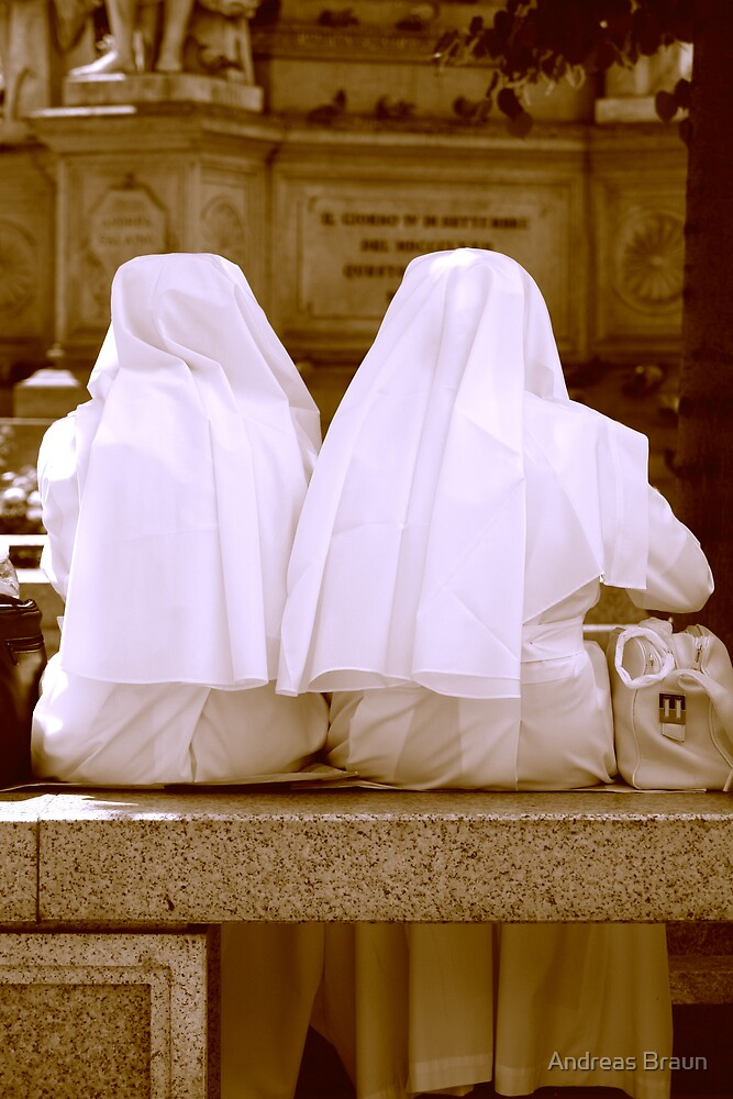 Nuns on lunchbreak by Andreas Braun