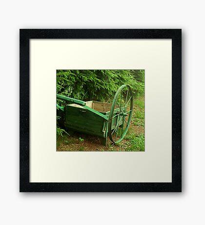 Antique Wheelbarrow Framed Print