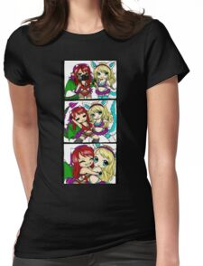 BFF Raver Furry Anthro Dragon & Wolf Girls Womens Fitted T-Shirt