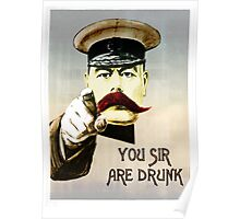 You sir, are drunk. Poster