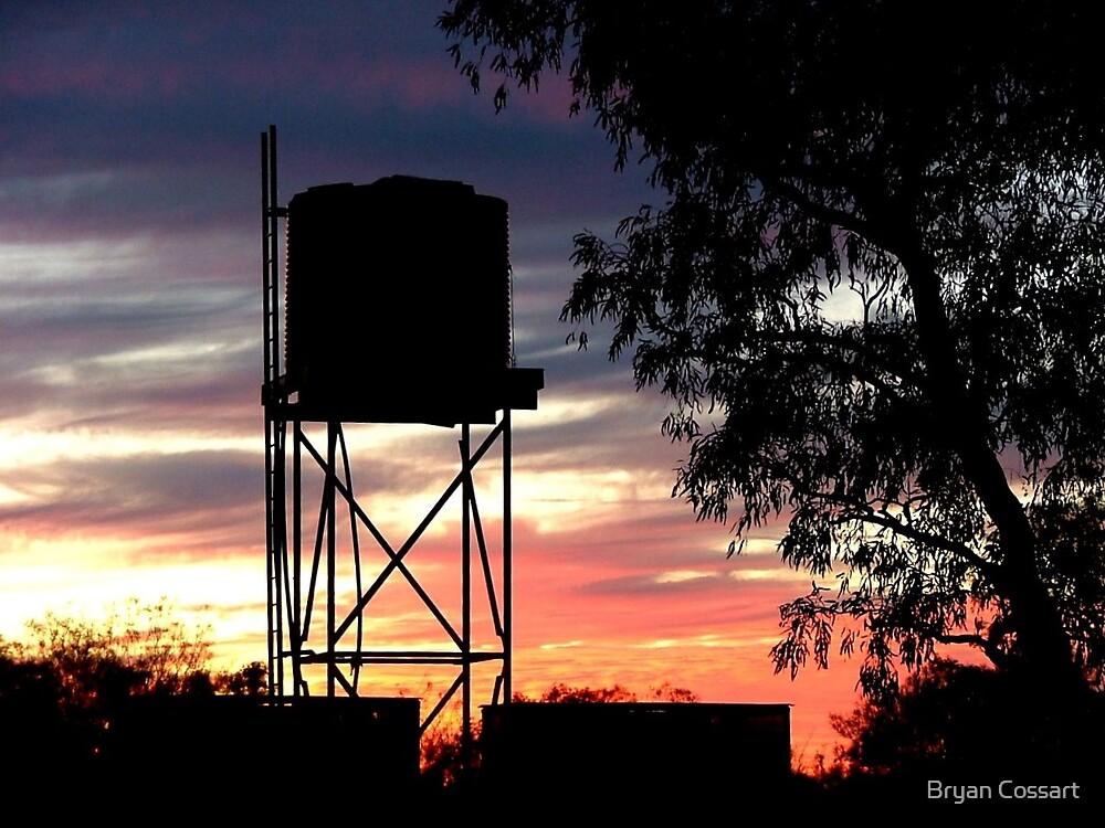 Sunset at Batton Hill North Simspon Desert by Bryan Cossart