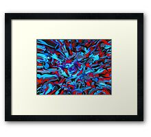 abstract, geometric, expressionist, color Framed Print