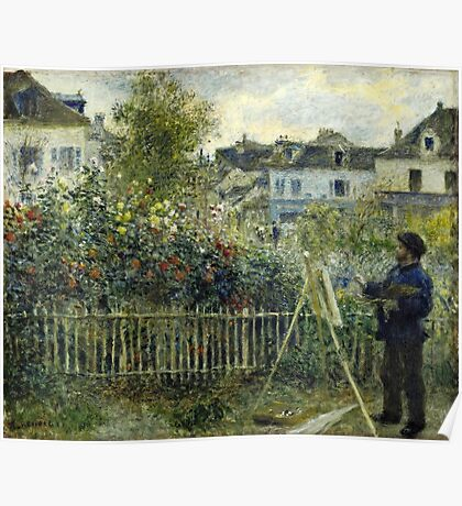 Claude Monet - Monet Painting In His Garden At Argenteuil I 1873 Poster
