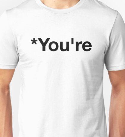 *You're Punctuation Correction  Unisex T-Shirt