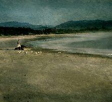 Man on a beach by Jeff Davies