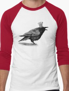 Crow in crown Men's Baseball ¾ T-Shirt