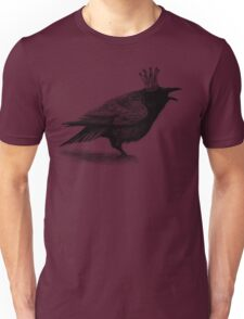 Crow in crown Unisex T-Shirt