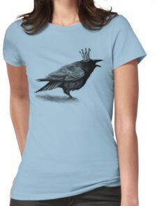 Crow in crown Womens Fitted T-Shirt