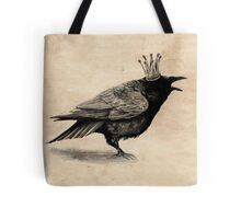 Crow in crown Tote Bag