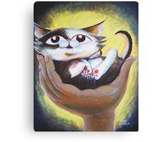 Tumbles the Kitten - Art by TET Canvas Print
