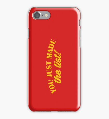 Chris Jericho - You Just Made The List iPhone Case/Skin