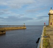 Whitby Piers Sticker