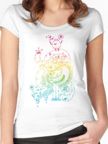 Yes Indeed B - Rainbow Flavour Women's Fitted Scoop T-Shirt