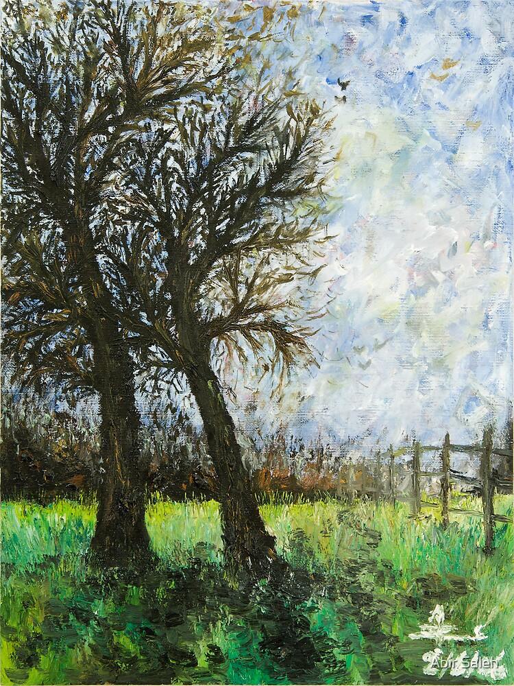 Winter Day On The Field by Abir Saleh