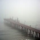Pier in the mist by pinkchampagne