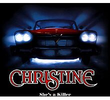 Amazing black transparency. Christine. A real killer. Photographic Print