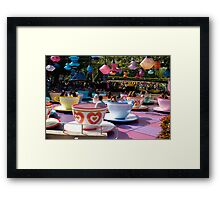 Tea cups at Disneyland Framed Print