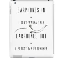 Earphones Music Funny Design iPad Case/Skin