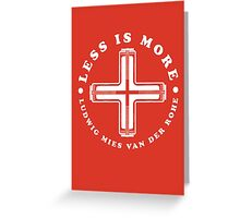 Less Is More Column White Mies Van Der Rohe Architecture Tshirt Greeting Card