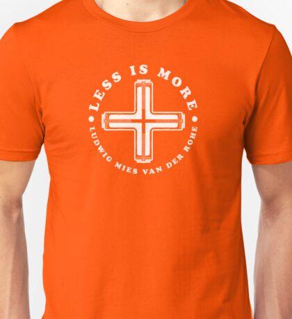 Less Is More Column White Mies Van Der Rohe Architecture Tshirt Unisex T-Shirt