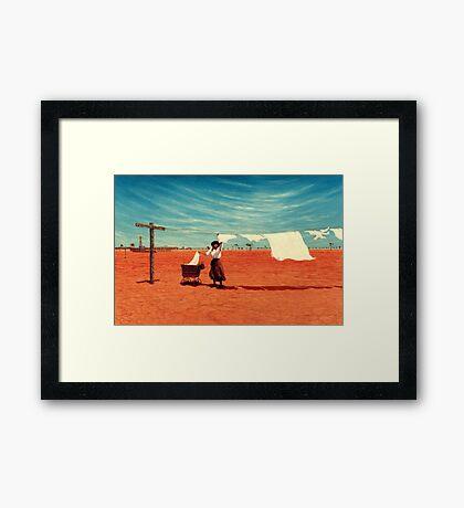 Outback Washday Framed Print