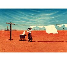 Outback Washday Photographic Print