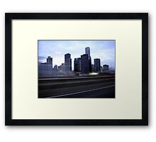 Melbourne view Framed Print
