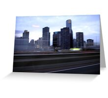 Melbourne view Greeting Card
