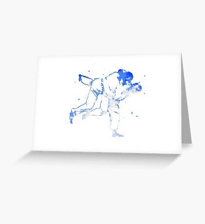 Painted Judo Throw (Judo / BJJ / Sambo) Greeting Card