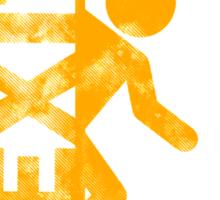 portal orange Sticker