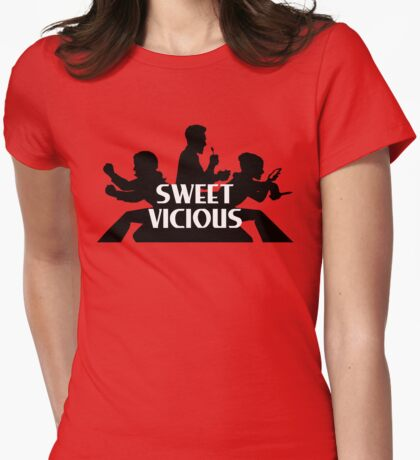 Sweet/Vicious Angels Womens Fitted T-Shirt