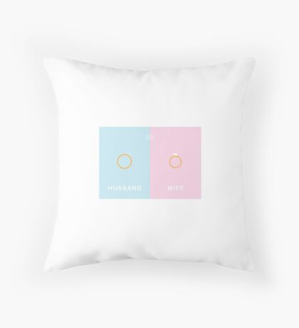 Everyday Opposites - Husband & Wife Throw Pillow