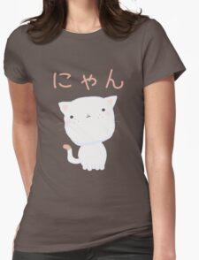 Kawaii Little Cat Womens Fitted T-Shirt