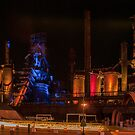 BETHLEHEM STEEL STACKS AT NIGHT by Diane Peresie