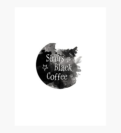 Sirius Black Coffee Photographic Print